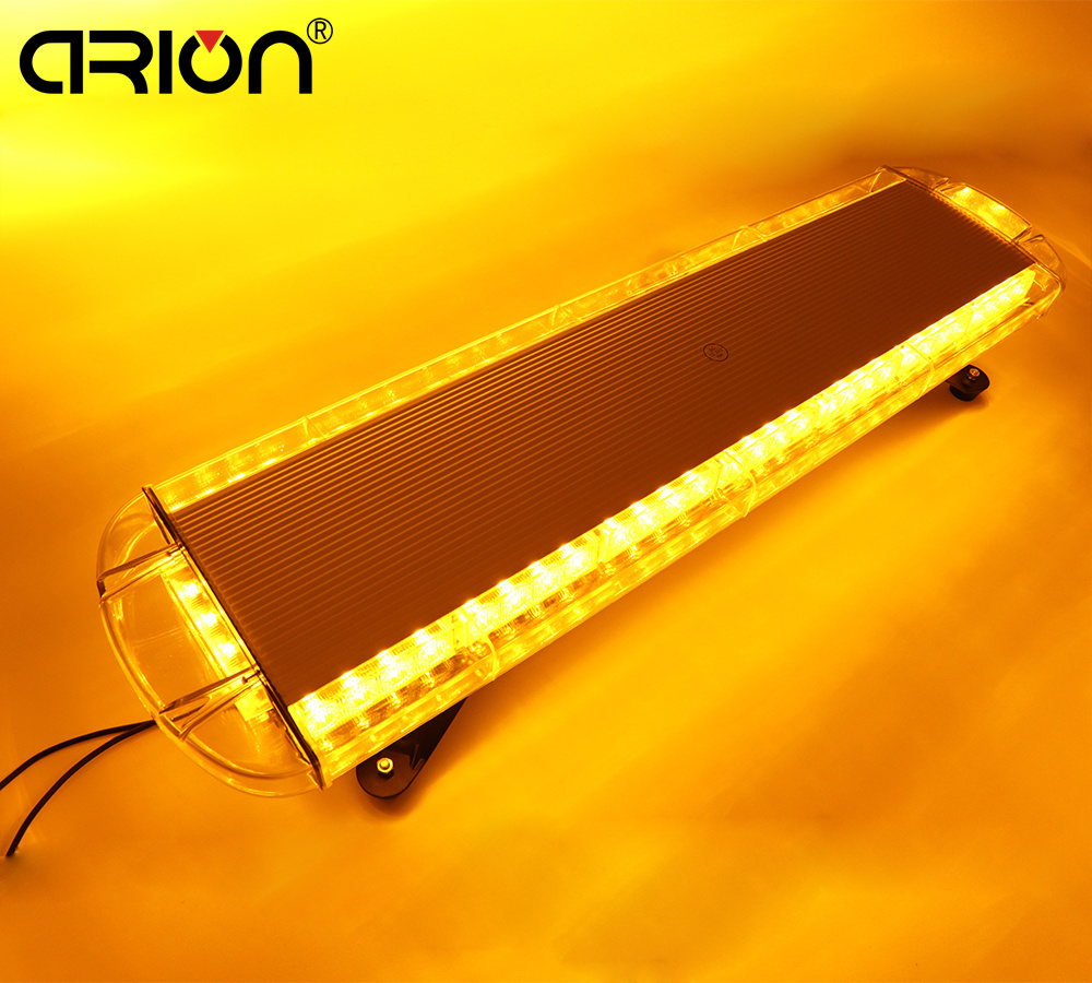 Car Lights Car Light Assembly Cirion Amber Yellow 34 860mm 64w 64 Led Car Truck Beacons Emergency Lights Warning Flashing Strobe Light Bar Lamp 12-24v To Clear Out Annoyance And Quench Thirst