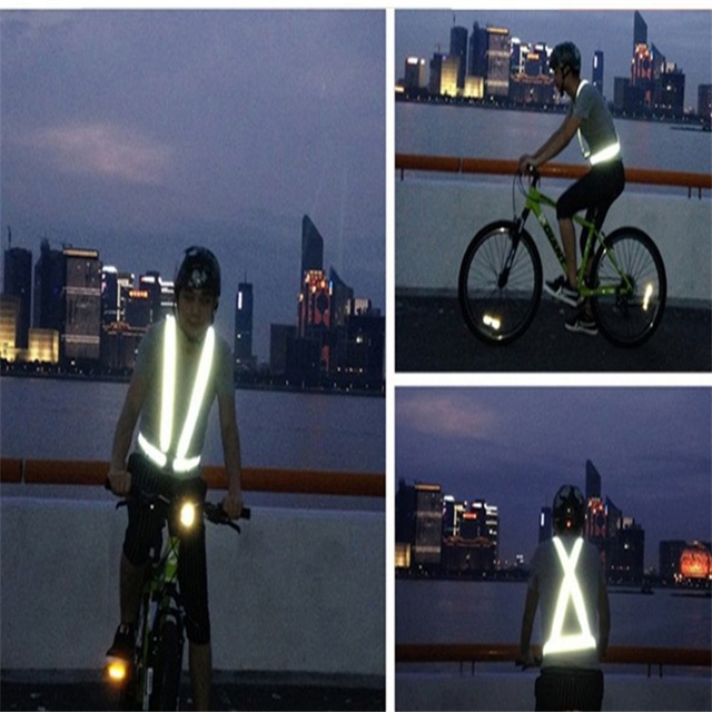 High Visibility Reflective Vest Man Women Work Clothes Night Warning Safety Outdoor for Running Cycling Sports Contruction Tops