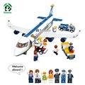Gran avión de aeropuerto 463 unids avión aviones juguetes para niños de regalo bloques de construcción de juguete juego educativo ladrillos compatibles con lego