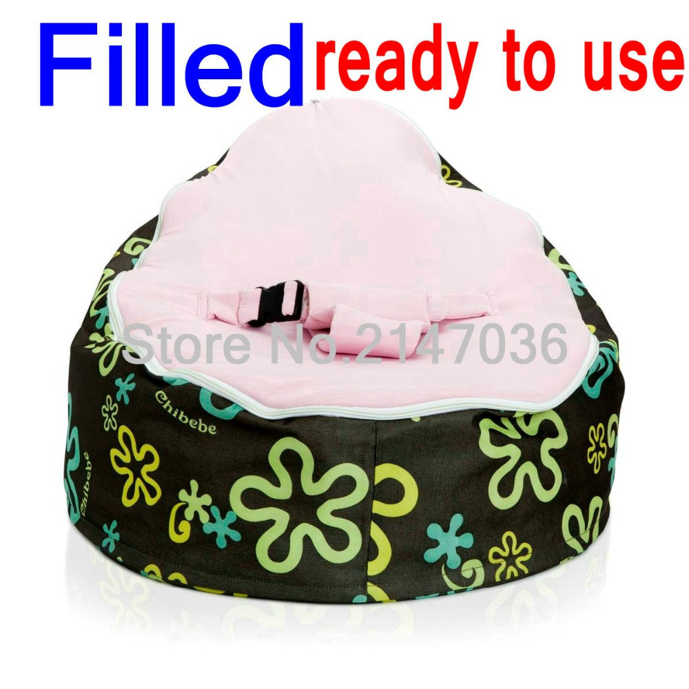WITH BEANS Inside, ready to use, baby bean bag chair, floral pink seat kids sleeping beanbag beds - 600D oxford original chairs school meeting chair with pad cheap kids plastic chairs export goods wholesale price with free shipment 50 chairs to canada
