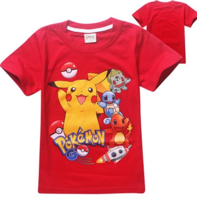 2017 Pokemon Camiseta de Los Niños Para Los Muchachos Del Verano Muchachas Del Muchacho de la Historieta 3d de Impresión Camisetas de Algodón de Moda Tee Tops Ropa Para Niños