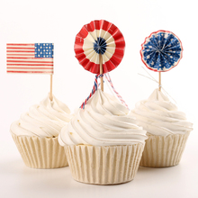 24pcs/lot Flags Cupcake Wrappers Fruit Toppers Toothpicks Toppers Cake Accessory