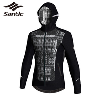 Santic Cycling Jacket Outdoor Sports Windproof Coats Winter Jacket Men Cotton Keeping Warm Bike Bicycle Jacket