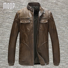 Genuine leather jacket men sheepskin rock coats motorcycle jacket chaqueta moto hombre veste cuir homme cappotto