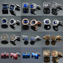 Novelty fashion shirt cufflink for mens gift Brand cuff button red blue Crystal cuff link High Quality Suit accessories Jewelry cheap Tie Clips Cufflinks Cuff Links Round Simulated-pearl HYX-M007 Metal yanjie Copper Classic