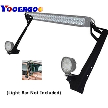 2007-2018 for Jeep Wrangler JK JKU Windshield Mounting Bracket W/Lower Corner Brackets for 50″ 52″ Inch LED Light bar