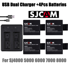 Sj sjcam dual battery + charger camera usb new for