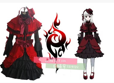 Free Shipping  New 2016 Homra Kushina Anna Cosplay anime Costumes