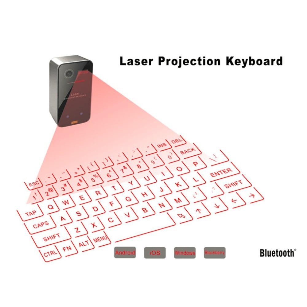 Prix pour Portable Bluetooth Sans Fil Clavier Laser Virtuel Mini Bluetooth De Projection Clavier pour Windows Pour Mobile Téléphones