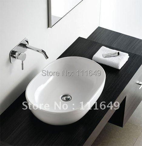 7258 Bathroom Ceramic Counter Top Egg Wash Hand Bowl Basin Cabinet Sink Vessel