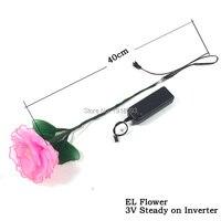 3V Steady on Flashing Inverter EL Wire Flower 13 Style New Design Novelty Lighting for Holiday Lighting Decoration