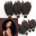 Монгольский афро кудрявый вьющиеся волосы 4а/4b/4c волос 1 шт. двойной уток Нет Не проливая не клубок наличие на складе