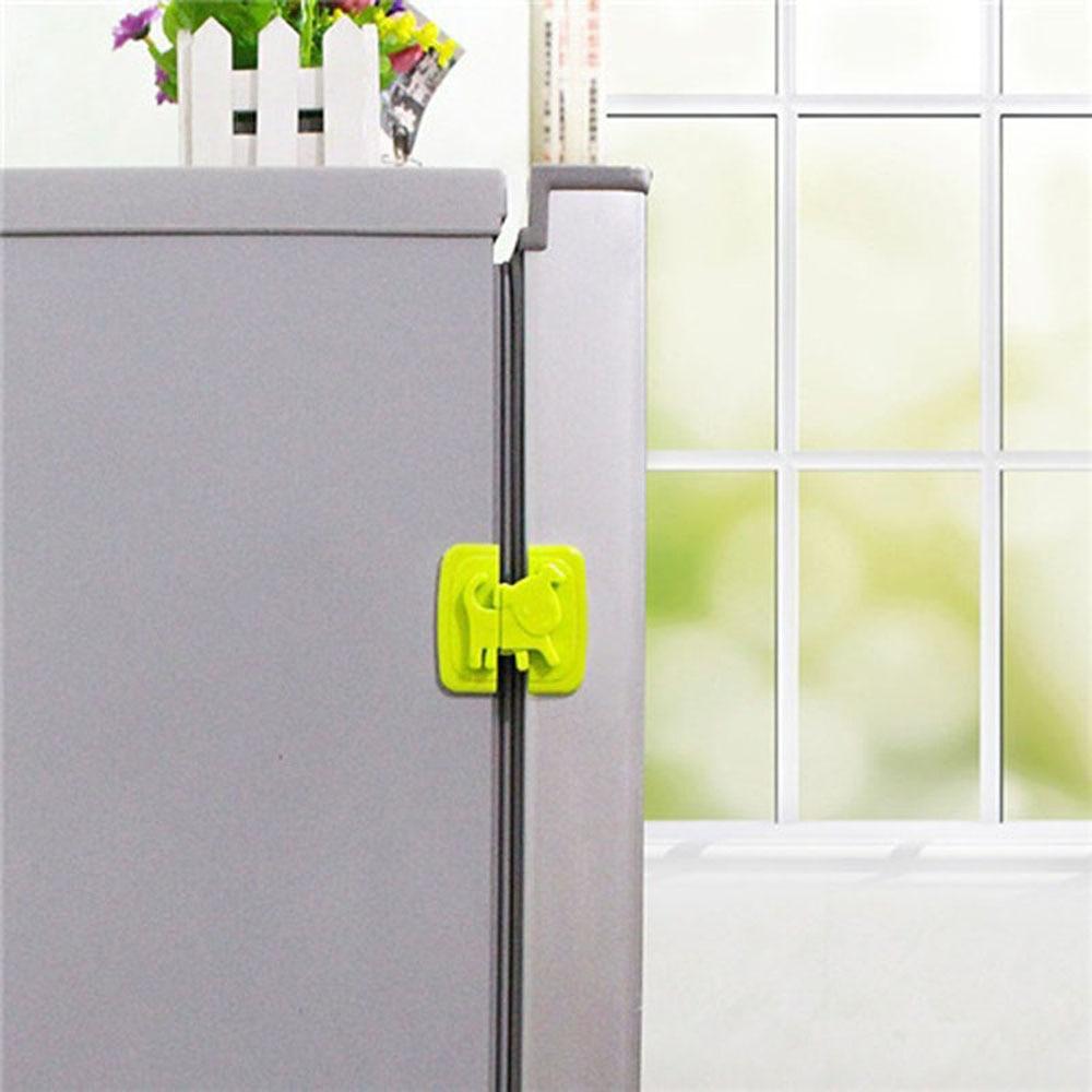 1pcs Adhesive Plastic Safe Cartoon Refrigerator Lock Cute Dog Shape Cupboards Cabinets Drawer Lock Kids Care Protection