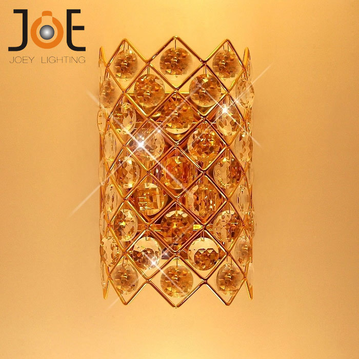 Modern Crystal Wall Lamp For Bedroom Bedside Brief Wall Sconce Light  Fixtures Bathroom Gold Home Decoration