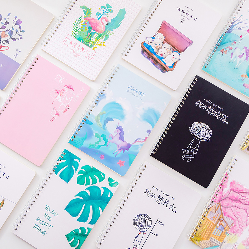A5 Coil Cute Notebook Paper 120 Sheets Note Book Diary Agenda Sketchbook Stationery Notebooks And Journals Planner Stationery