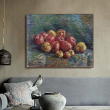 A Pile of Apples by Vincent Van Gogh Poster and Print Canvas Painting Calligraphy Wall Pictures for Living Room Home Decor