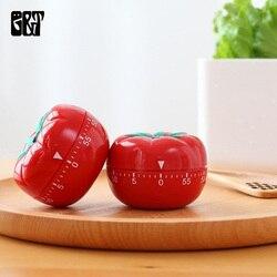 GT 2 unids/set temporizador de cocina mecánico lindo manzana huevo tomate cocina temporizador alarma 60 minutos 360 grados acero inoxidable