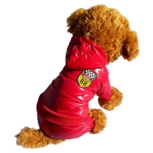 Winter Warm Down Jacket Pet Dogs Costume Puppy Light-weight Four Legs Hoodie Coat Z