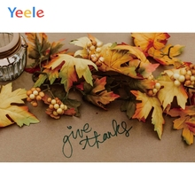 Yeele Thanksgiving Yellow Maple Leaves Wallpaper Photography Backdrops Personalized Photographic Backgrounds For Photo Studio