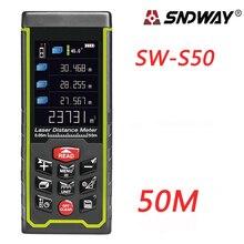 Best Buy SNDWAY Color display 50m 164ft Digital rechargeable Laser Rangefinder laser distance meter measure tools