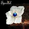 Especial moda Natural pedra broche broche de flor grande buquê de casamento jóias para mulheres XZ150903