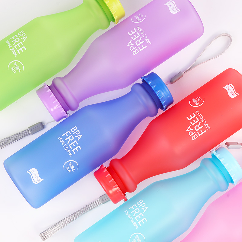 Kuća i bašta ... Kuhinja i trpezarija ... 32675653190 ... 5 ... Candy Colors Unbreakable Frosted Leak-proof Plastic kettle 550mL BPA Free Portable Water Bottle for Travel Yoga Running Camping ...