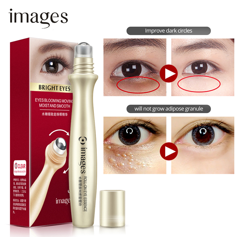 IMAGES Hyaluronic Acid Eye Serum Remove Wrinkles Skin Care Dark Circle Anti-Aging Anti-Puffiness IMoisturizing Rolling Eye Care(China)