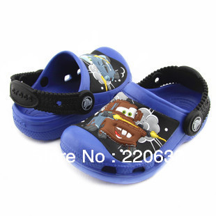 Free shipping Hot sale second generation cars shoes Kids 3D cartoon sandal/slippers  boys size :6C7-12C13 spring summer