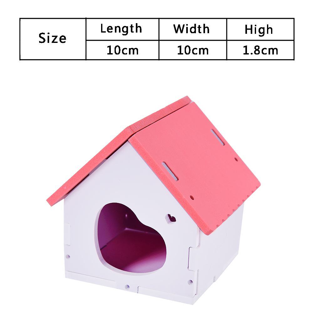 ZG0013 House Guinea Pig Mice Stairs Cockloft Small Pet Playing Watching Stage Wooden Cages Hamster  (24)