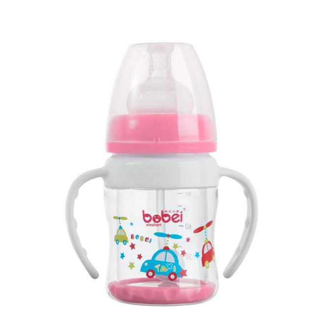 100 ml botella de alimentación del bebé Pyrex biberón botella de vidrio de consumición del biberones con mango de alimentación automática mamadeira vidro