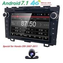 Android 7.1 HD 1024*600 dvd-плеер автомобиля Радио для Honda CRV 2007-2011 4 г WI-FI GPS навигация головное устройство 2din 1 грамм SWC DVR dab + cam