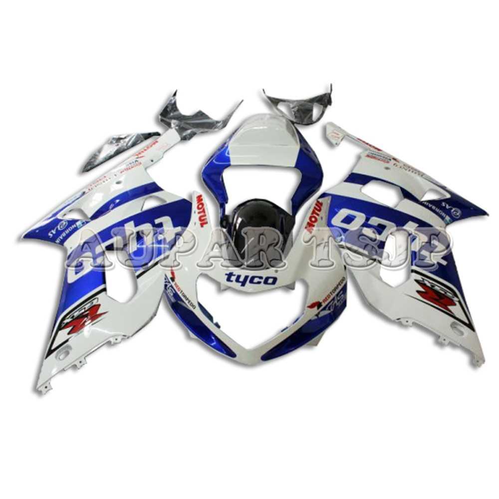 White Blue Panels for Suzuki GSXR600 GSXR750 2000 2001 2002 2003 Body Work  Sportbike Fairings Body Kits ABS Plastic Injection