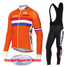 National team Cycling Clothing Winter Sets Long Sleeve Thermal Fleece Cycling Jersey Men Bicycle Mtb Maillot Ciclismo invierno