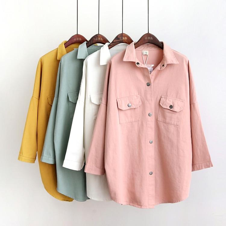 CHICEVER Long Sleeve Loose Plus Size Women Jacket Female Coat With Pockets 2017 Autumn Fall Fashion Clothing