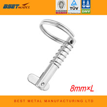 8mm BSET MATEL Marine Grade 316 Stainless Steel Quick Release Pin for Boat Bimini Top Deck Hinge Marine hardware Boat(China)