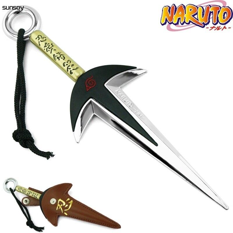 Naruto Fourth Hokage Yondaime Namikaze Minato Kunai With Leather Case 18CM Naruto Action Figure Japanese Toys For Boys Gift