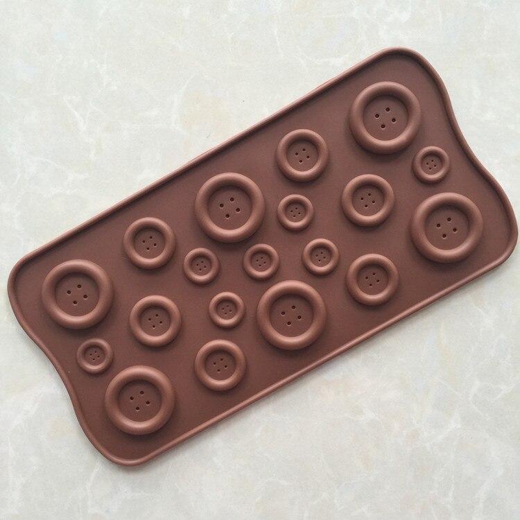 Botón lindo de la forma del molde de silicona jabón jalea \\ \\ chocolate, diy a