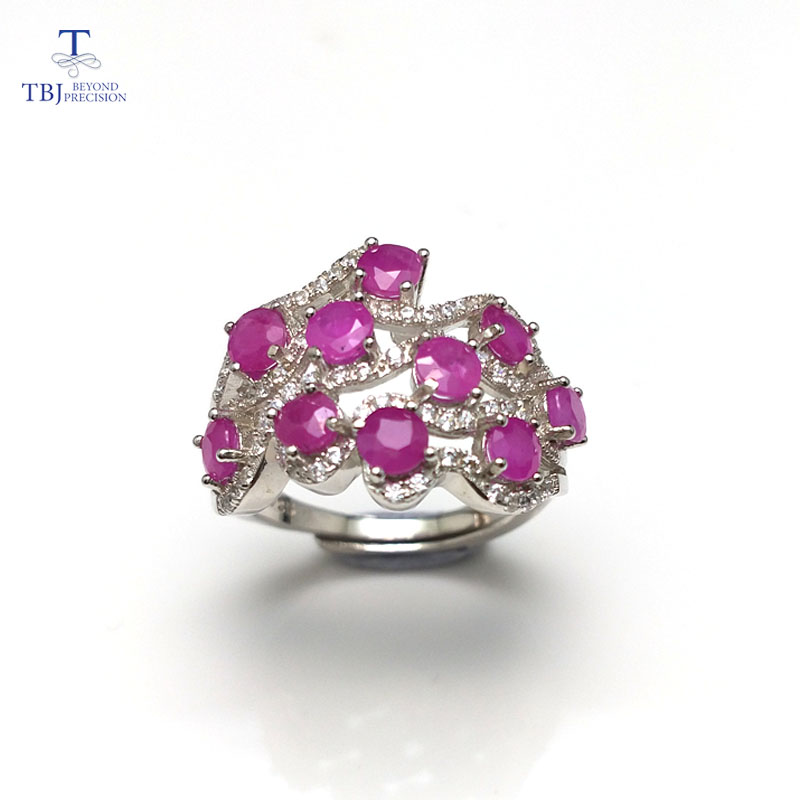 TBJ, Romantic design natural diffusion Ruby gemstone ring ,good making ring in 925 sterling silver for women as a giftTBJ, Romantic design natural diffusion Ruby gemstone ring ,good making ring in 925 sterling silver for women as a gift