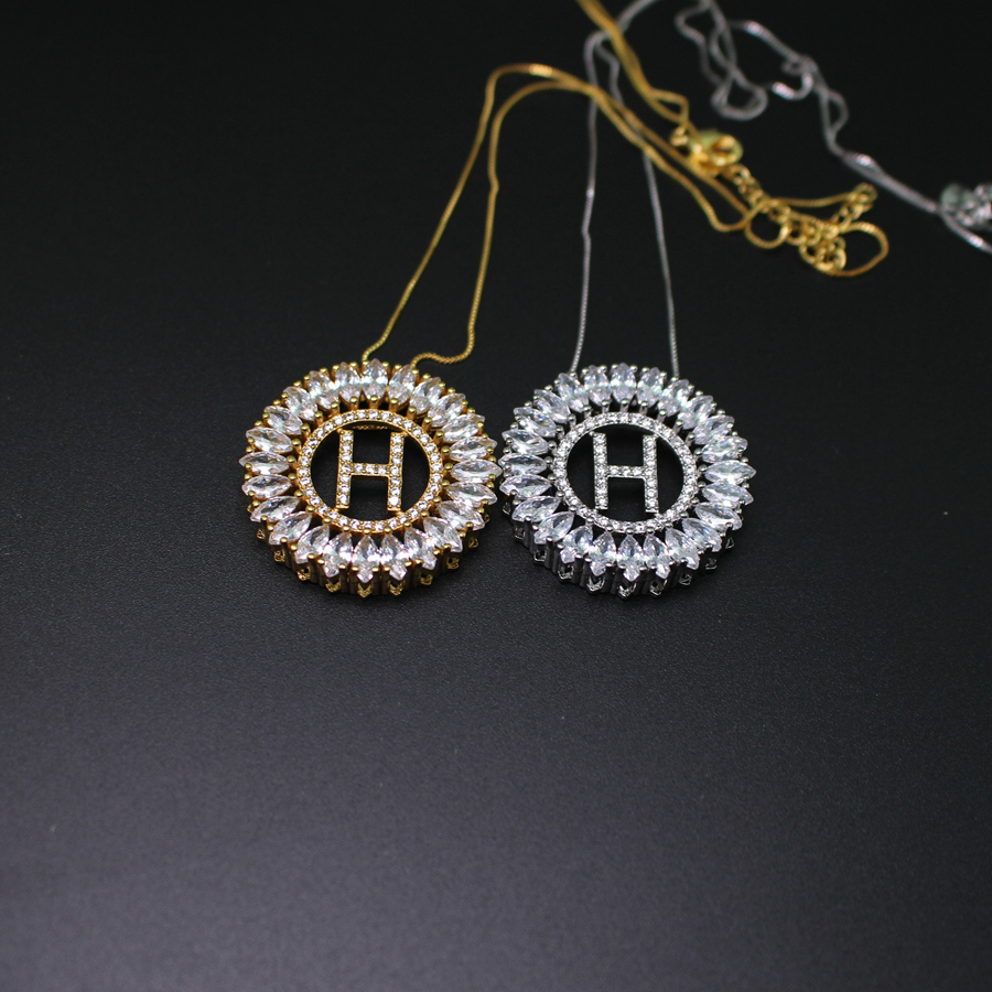 Aliexpress.com : Buy Letter H Pendant Necklace With AAA Cubic Zirconia  Fashion Jewerly For Women From Reliable Necklace With Suppliers On  Shop739843 Store