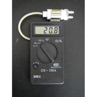 Ox 100a цифровой анализатор кислорода Портативный детектор метр Расширенный производства электродов Технология Провода