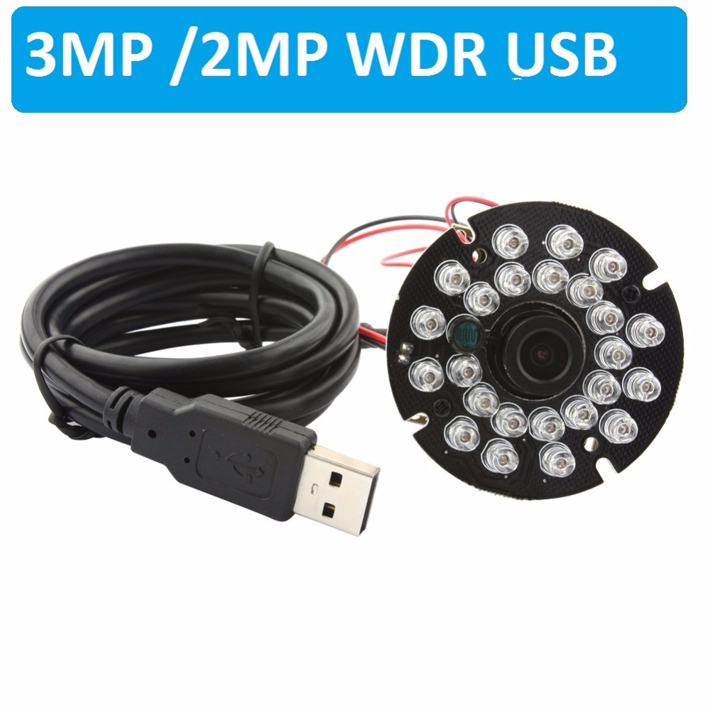 3MP WDR MICRON AR0331 CMOS H 264 MJPEG Audio MIC HD USB2 0 Night Vision IR