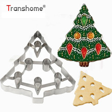 ФОТО Transhome 1Pcs Christmas Tree Cookie Molds Stainless Steel Biscuits Cutter Mold Baking Pastry Tools Kitchen Accessories
