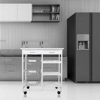The Goods for Kitchen Storage Rack Fridge Side Shelf 3 Layer with Wheels Kitchen Organizer Shelf Gap Holder
