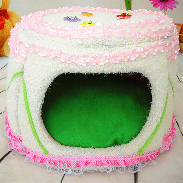 5f1e7408c Soft Dog Beds For Small Dogs Pink Lace Kennel Pet House Luxury Ctue  Princess Beds Cat