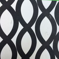 Synthetic PVC Black And White Spiral Circle Printed Leather Material