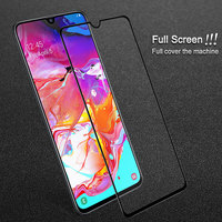 IMAK Full Coverage for Samsung A70 Glass Samsung Galaxy A70 Tempered Glass 9H Hardness Film for Samsung A 70 Screen SM-A705FD