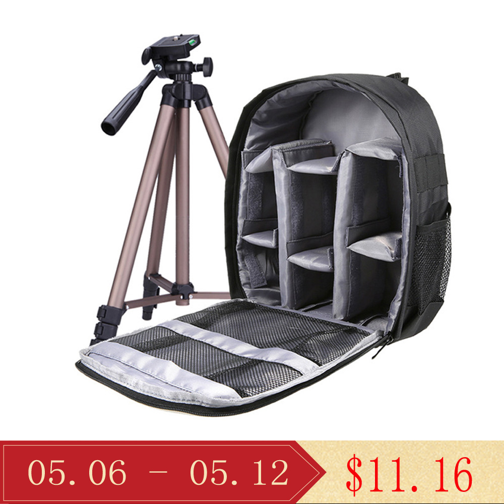 Andoer Dslr Camera Bag Outdoor Small Camera Video Backpack Water-resistant Multi-functional Breathable Camera Bags Shrink-Proof Camera/video Bags