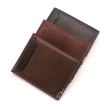 цена на PipiFren Small Mens Wallets leather Short Purse Card Holder For man portafogli uomo portefeuille homme carteira masculina