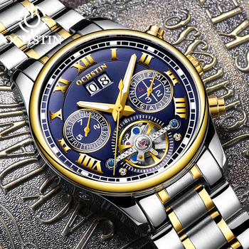 OCHSTIN Mens Watch Tourbillon Automatic Machinery Watches Top Brand Stainless Steel Business 30M Waterproof Watches 2019 New