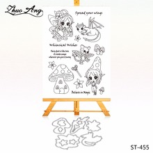 Mushroom fairy Metal Cutting Dies Clear Stamp Set for DIY Scrapbooking/photo Album Decorative Craft Clear Stamp Chapter